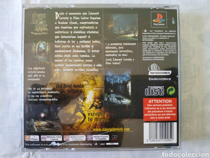 Alone In The Dark Ps1 Sold Through Direct Sale 166303760