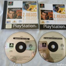 Videojuegos y Consolas: 007 EL MAÑANA NUNCA MUERE 2 JUEGOS EL MUNDO NUNCA ES SUFICIENTE PS1. Lote 166341285