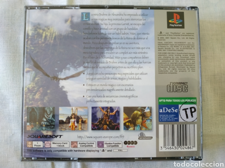 Videojuegos y Consolas: Final Fantasy IX ps1 - Foto 2 - 166341666