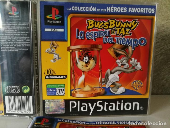 Videojuegos y Consolas: BUGS BUNNY LA ESPIRAL DEL TIEMPO PS1 - Foto 2 - 166371668