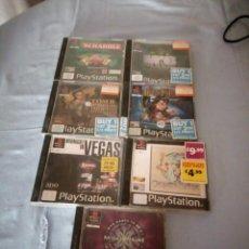 Videojuegos y Consolas: LOTE DE 8 JUEGOS DE PLAYSTATION 1 TOMB RAIDER,ETC,DESDE 1996 A 2001,INGLES,ALEMAN,Y FRANCES.. Lote 167549956