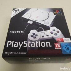 Videojuegos y Consolas: 619- SONY PLAYSTATION CLASSIC-NUEVA INCLUYE 20 JUEGOS PRECARGADOS SCPH-1000R. Lote 168583684
