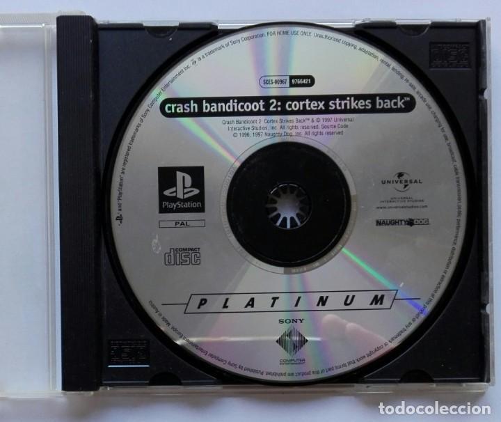 PLAYSTATION. CRASH BANDICOT 2: CORTEX STRIKES BACK. 1997 UNIVERSAL. EN CAJA Y SIN CARÁTULA. VER FOTO (Juguetes - Videojuegos y Consolas - Sony - PS1)