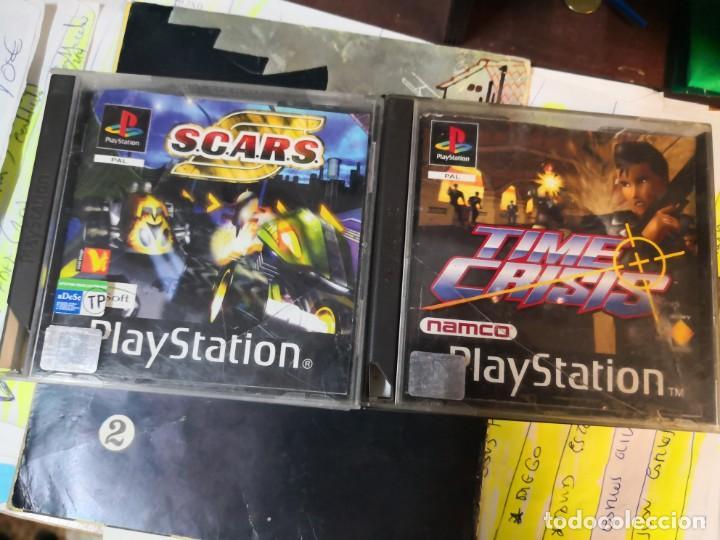 2 JUEGOS PLAYSTATION, PS1 TIME CRISIS Y SCARS, (Juguetes - Videojuegos y Consolas - Sony - PS1)