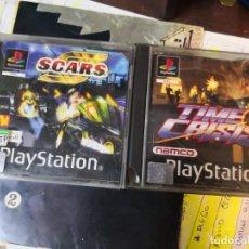 Videojuegos y Consolas: 2 JUEGOS PLAYSTATION, PS1 TIME CRISIS Y SCARS, . Lote 170140236