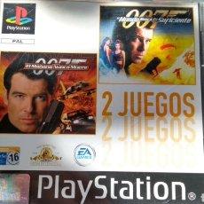 Videojuegos y Consolas: EL MAÑANA NUNCA MUERE + EL MUNDO NUNCA ES SUFICIENTE (SIN MANUAL). Lote 170482158
