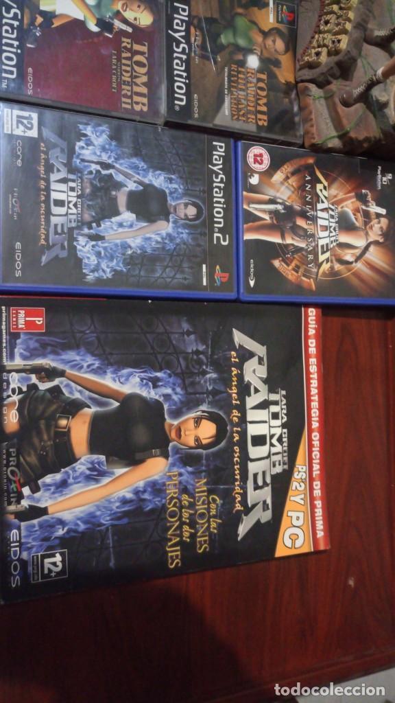 Videojuegos y Consolas: Lote Tomb raider ,PS1 vinilada ,juegos PS1 ,PS2 ,guia y figura Lara Croft - Foto 3 - 171251259