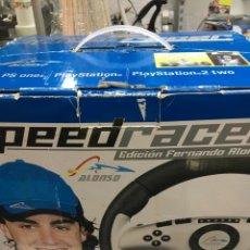 Videojuegos y Consolas: VOLANTE SPEED RACER ALONSO PS1 PS2-PLAYSTATION. Lote 172787607