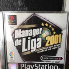 Videojuegos y Consolas: MANAGER DE LIGA 2001-PS1 PLAYSTATION. Lote 174326133