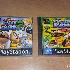 Videojuegos y Consolas: POINT BLANK 1 2 PSONE PLAYSTATION PAL ESPAÑA COMPLETOS. Lote 159669578