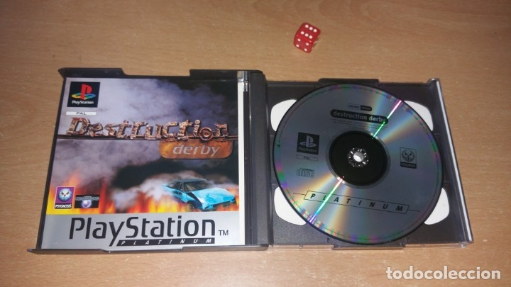 Videojuegos y Consolas: DESTRUCTION DERBY PLAYSTATION PAL ESPAÑA Platinum - Foto 3 - 175227108