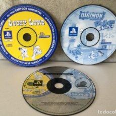 Videojuegos y Consolas: LOTE JUEGOS PS1 LUCKY LUKE DIGIMON MARRANOS EN GUERRA SOLO CDS. Lote 176185090