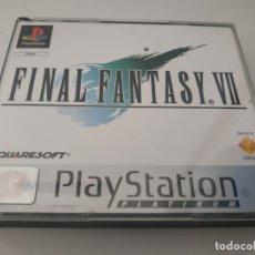 Videojuegos y Consolas: FINAL FANTASY VII - 7 PLATINUM PAL SPA PLAY1 PSX PLAYSTATION. Lote 179526440