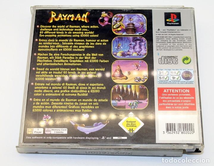Videojuegos y Consolas: PS1 - RAYMAN - VERSIÓN ESPAÑOLA - FUNCIONADO - PSX - PLAYSTATION - PLATINIUM - Foto 3 - 182057192