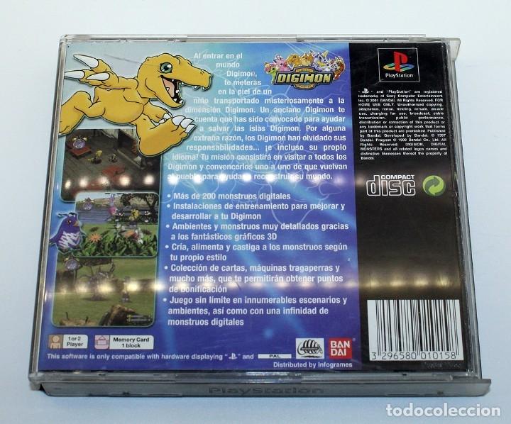 Videojuegos y Consolas: PS1 - DIGIMON WORLD - VERSIÓN ESPAÑOLA - FUNCIONADO - PSX - PLAYSTATION - Foto 3 - 182059577