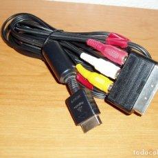 Videojuegos y Consolas: CABLE RCA AUDIO VIDEO SONY PLAYSTATION 1 2 3 PS1 PS2 PS3 + EUROCONECTOR. Lote 182383306