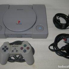 Videojuegos y Consolas: CONSOLA SONY PLAY STATION ONE CON MANDO Y CABLES - PSX PS1 PS 1 - FUNCIONANDO -. Lote 182746146