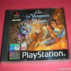 Videojuegos y Consolas: DISNEY ALADDIN LA VENGANZA DE NASIRA VIDEOJUEGO EN ESPAÑOL PLAYSTATION JUEGO, CAJA,MANUAL EN ESPAÑOL. Lote 182779968