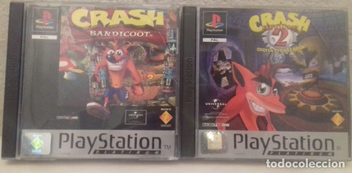 2 JUEGOS PLAYSTATION 1 CRASH (Juguetes - Videojuegos y Consolas - Sony - PS1)