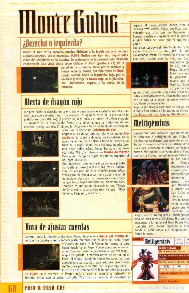 Videojuegos y Consolas: Juego Final Fantasy IX + Guías oficiales de Squaresoft y Hobby Consolas + Libro de rutas y secretos - Foto 7 - 183566292