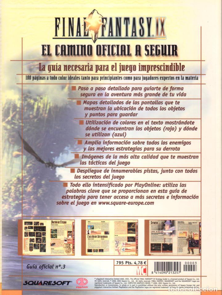 Videojuegos y Consolas: Juego Final Fantasy IX + Guías oficiales de Squaresoft y Hobby Consolas + Libro de rutas y secretos - Foto 10 - 183566292