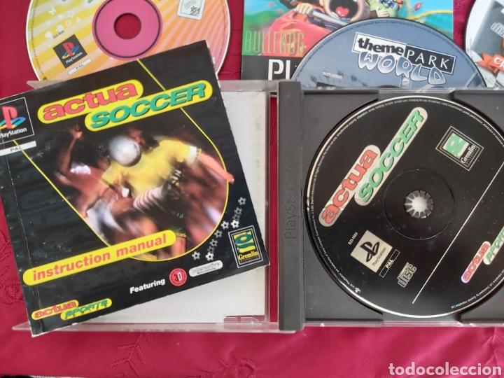 Videojuegos y Consolas: CONSOLA PS1 + 2 MANDOS + ACTUA SOCCER + CRASH TEAM + DANCING STAGE + THEME PARK WORLD - Foto 6 - 184144940