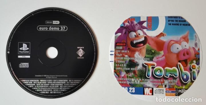 EURO DEMO 37 - DEMOS JUGABLES DE TOMBI, TEST DRIVER 5, NINJA, ....SOLO DISCO Y CARATULA (Juguetes - Videojuegos y Consolas - Sony - PS1)