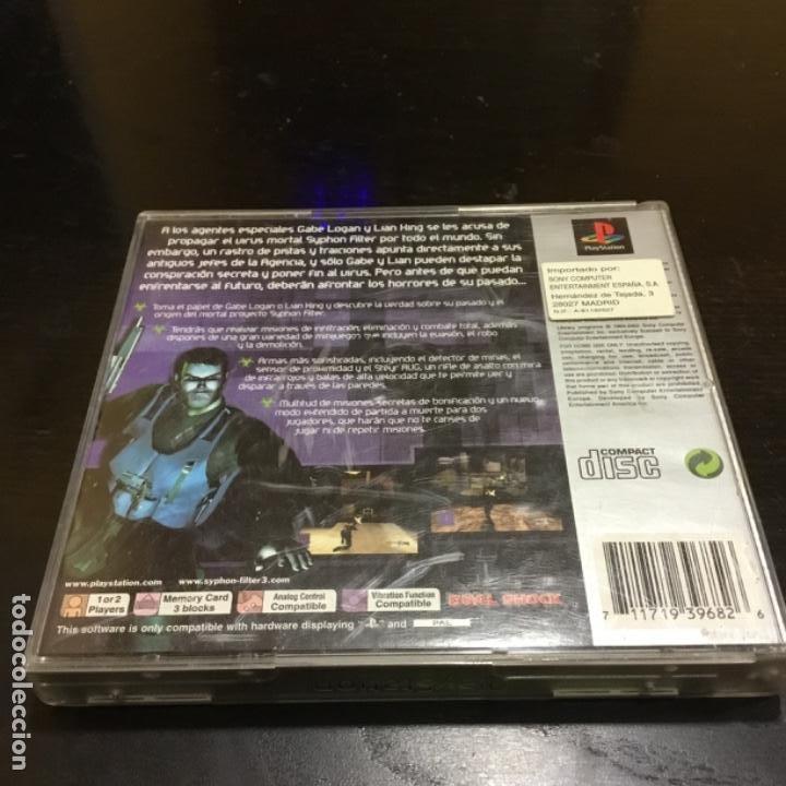 Videojuegos y Consolas: Syphonfilter 3 PS1 Juego playstation - Foto 2 - 186082043