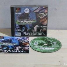 Videojuegos y Consolas: JUEGO PLAYSTATION CHAMPIONSHIP MOTOCROSS . Lote 186093355