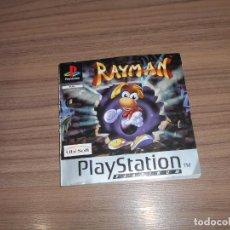 Videojuegos y Consolas: RAYMAN MANUAL DE INSTRUCCIONES PLAYSTATION PAL ESPAÑA CASTELLANO. Lote 189557201
