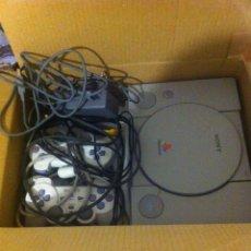 Videojuegos y Consolas: LOTE : DOS CONSOLAS PSONE Y PS1, DOS MANDOS Y 9 JUEGOS. Lote 190096663