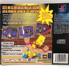 Videojuegos y Consolas: CARATULA TRASERA THE SIMPSONS WRESTLING PLAYSTATION PSX PS1 PSONE. Lote 190506245