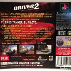 Videojuegos y Consolas: CARATULA TRASERA DRIVER 2 PLAYSTATION PS1. Lote 190721723