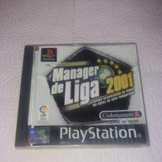 Videojuegos y Consolas: MÁNAGER DE LIGA 2001 CON CERTIFICADO DE AUTENTICIDAD PLAYSTATION 1. Lote 192008758