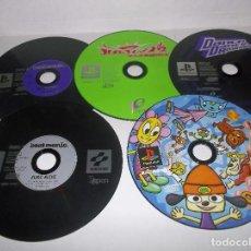 Videojuegos y Consolas: PSX LOTE JUEGOS BETMANIA, BUST A MOVE, PARAPPA RAPPER Y DANCE VERSION JAPONESAS PSONE PLAYSTATION. Lote 192847700