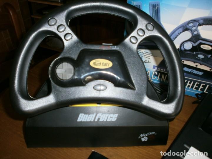 Videojuegos y Consolas: MAD CATZ DUAL FORCE RACING WHEEL FOR PLAYSTATION + REALPLAY RACING PARA PLAYSTATION 2 - 1998. - Foto 2 - 192860385