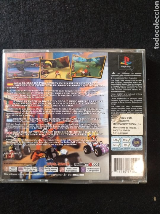 Videojuegos y Consolas: Juego PlayStation CTR Crash team Racing Pal, PS1 - Foto 3 - 194392621