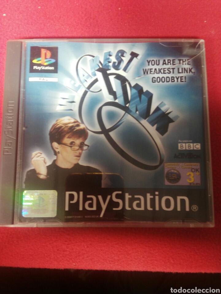 WEAKERT LINK (Juguetes - Videojuegos y Consolas - Sony - PS1)