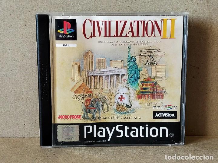 JUEGO VIDEOJUEGO PLAYSTATION PS1 - PSX PAL - CIVILIZATION II - COMPLETO - (CON TABLA DE ADELANTOS) (Juguetes - Videojuegos y Consolas - Sony - PS1)