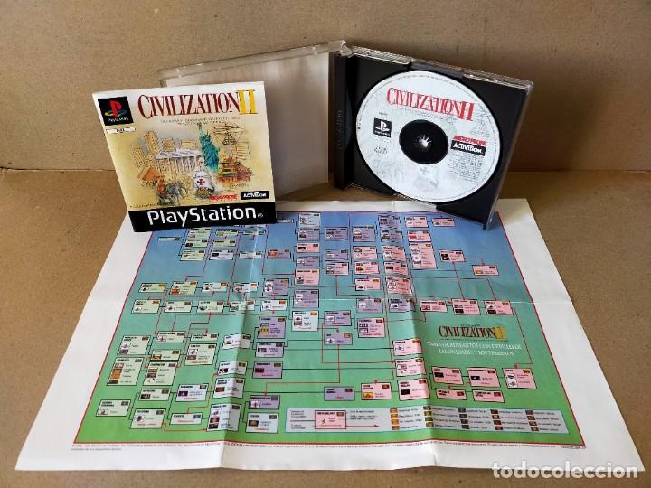 Videojuegos y Consolas: JUEGO VIDEOJUEGO PLAYSTATION PS1 - PSX PAL - CIVILIZATION II - COMPLETO - (CON TABLA DE ADELANTOS) - Foto 2 - 194710851