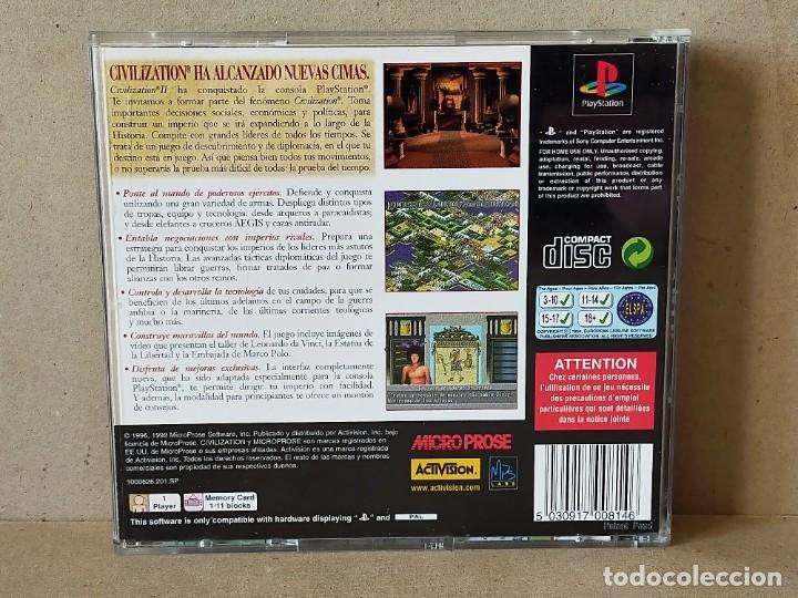Videojuegos y Consolas: JUEGO VIDEOJUEGO PLAYSTATION PS1 - PSX PAL - CIVILIZATION II - COMPLETO - (CON TABLA DE ADELANTOS) - Foto 3 - 194710851