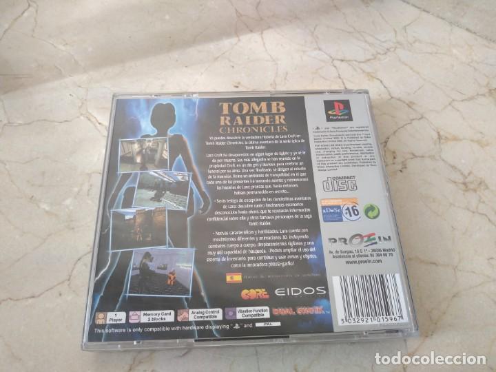 Videojuegos y Consolas: Juego playstation Tomb Raider ps1 Chroniques - Foto 3 - 194988913