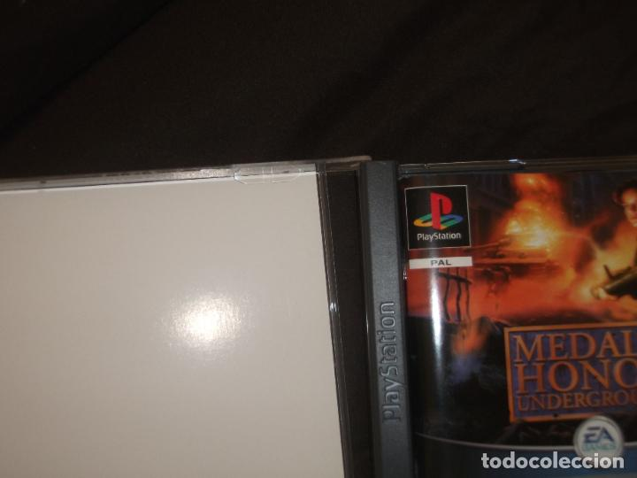 Videojuegos y Consolas: MEDAL OF HONOR UNDERGROUND PS1 - PSX CAJA DAÑADA FOTO - Foto 4 - 195341141