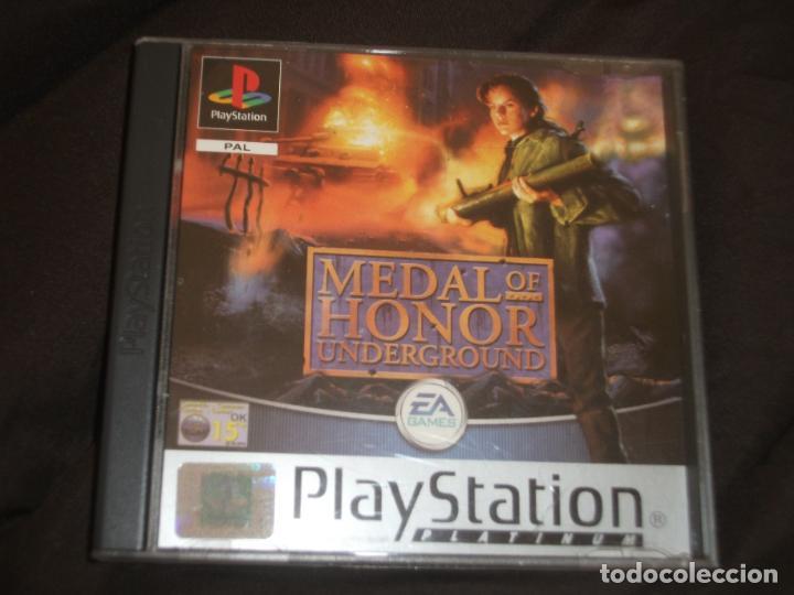 MEDAL OF HONOR UNDERGROUND PS1 - PSX CAJA DAÑADA FOTO (Juguetes - Videojuegos y Consolas - Sony - PS1)