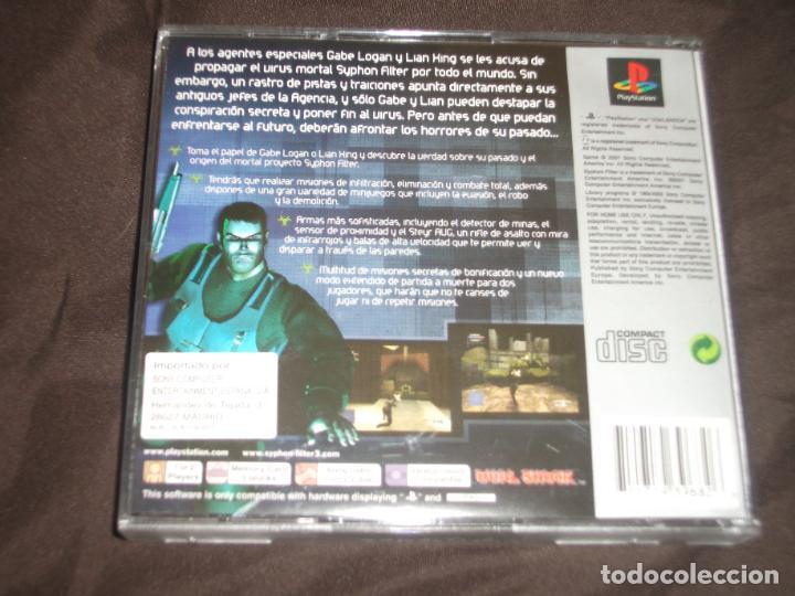 Videojuegos y Consolas: SYPHON FILTER 3 SENTENCIA FINAL PS1 - PSX SIN MANUAL - Foto 2 - 195341652