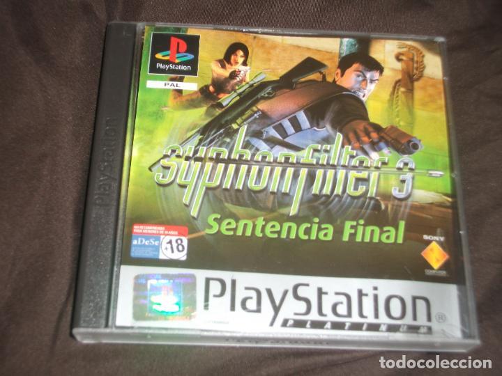 SYPHON FILTER 3 SENTENCIA FINAL PS1 - PSX SIN MANUAL (Juguetes - Videojuegos y Consolas - Sony - PS1)