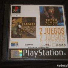 Videojuegos y Consolas: TOMB RAIDER 2 JUEGOS PSX PS1. Lote 195341965