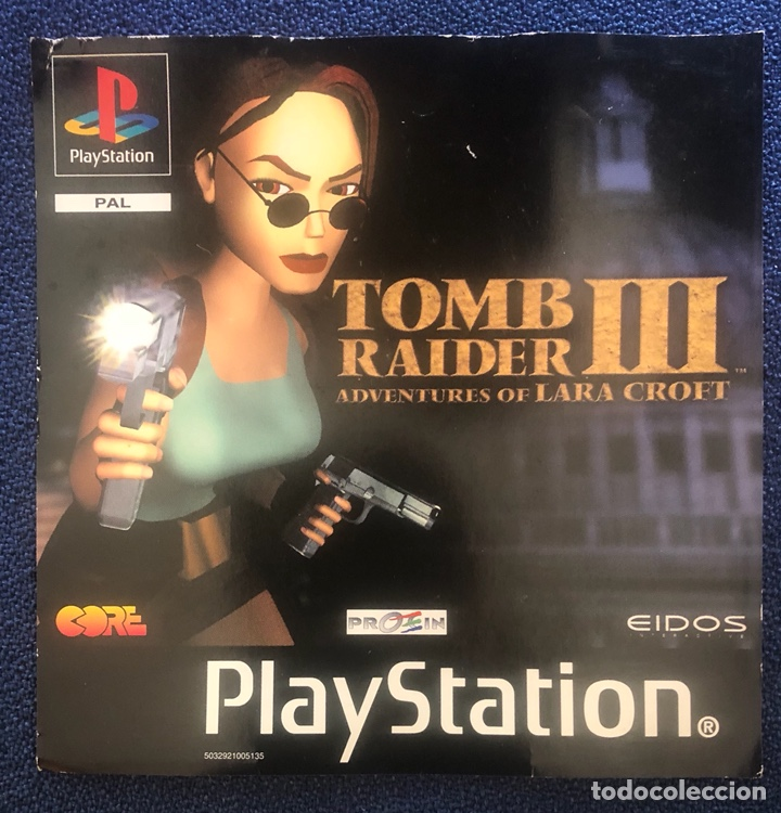 TOMB RAIDER III ADVENTURES OF LARA CROFT PS1 PSONE PLAYSTATION (Juguetes - Videojuegos y Consolas - Sony - PS1)