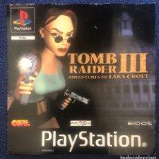 Videojuegos y Consolas: TOMB RAIDER III ADVENTURES OF LARA CROFT PS1 PSONE PLAYSTATION. Lote 195373305