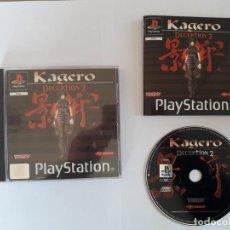 Videojuegos y Consolas: JUEGO PSX KAGERO DECEPTION 2. Lote 195415367